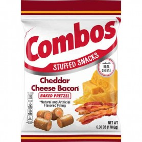 Combos cheddar cheese bacon pretzel GM