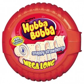 Hubba bubba snappy strawberry mega long