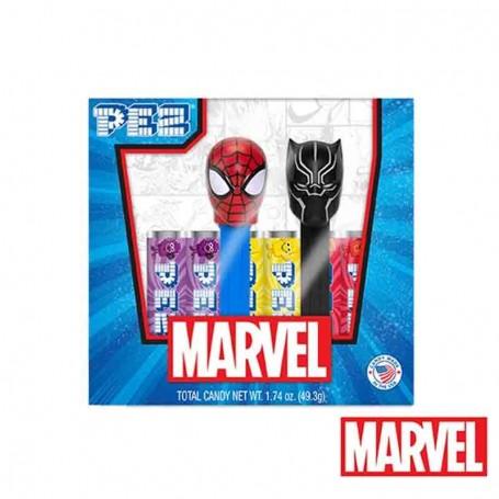 Pez gift set marvel spiderman et black panther