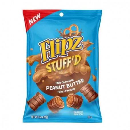 Flipz stuff'd milk chocolate peanut butter 99G
