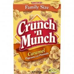 Crunch'n munch caramel pop corn with peanut
