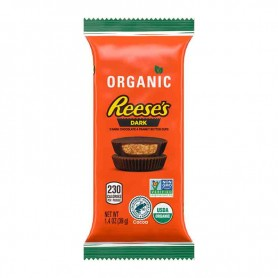 Reese's organic 2 dark peanut butter cup