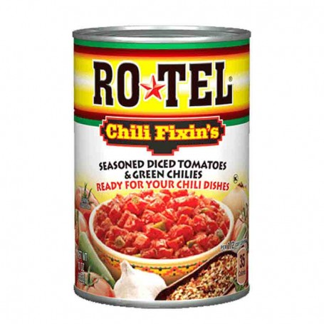 Rotel chili fixin's diced tomatoes