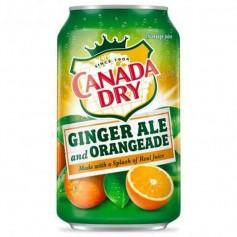 Canada dry ginger ale and orangeade