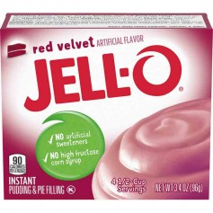 Jell-O red velvet pudding