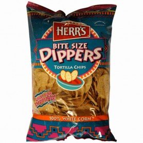 Herr's bite size dippers tortilla chips
