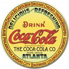 Magnet coke key label round