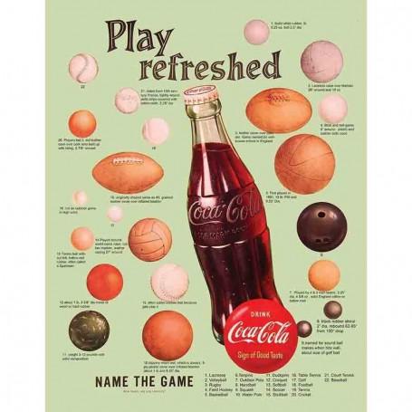 Plaque metal coke play