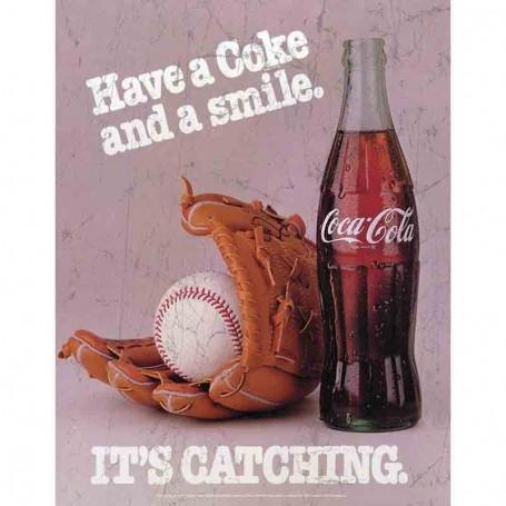Plaque metal coke catching