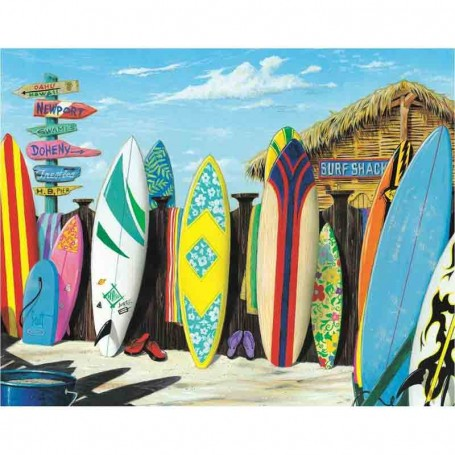 Plaque metal westmoreland surf shack