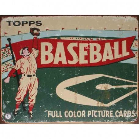 Plaque metal topps baseball 1954