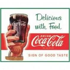 Plaque metal coke delicious food