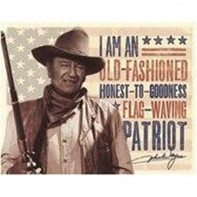 Plaque metal john wayne patriot