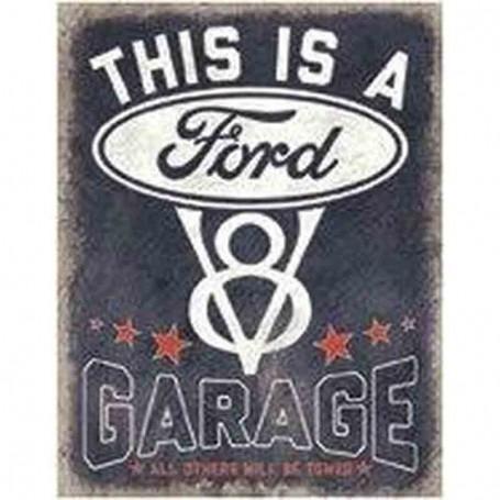 Plaque métal ford garage