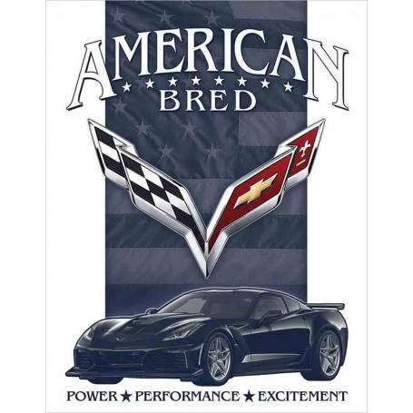 Plaque métal corvette american bred