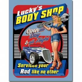 Plaque métal lucky's body shop