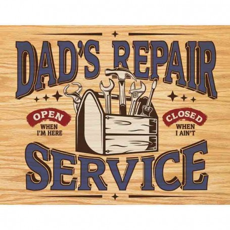 Plaque métal dad's repair service