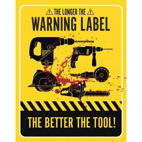 Plaque métal warning label