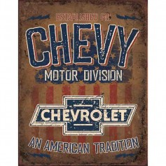 Plaque métal chevy american tradition