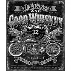 Plaque métal good whiskey