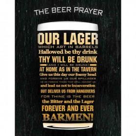 Plaque métal beer prayer