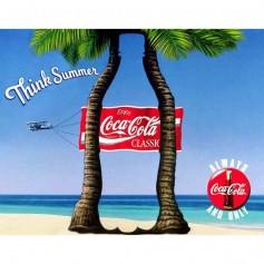 Plaque métal coke classic palm