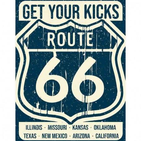 Plaque métal route 66 states