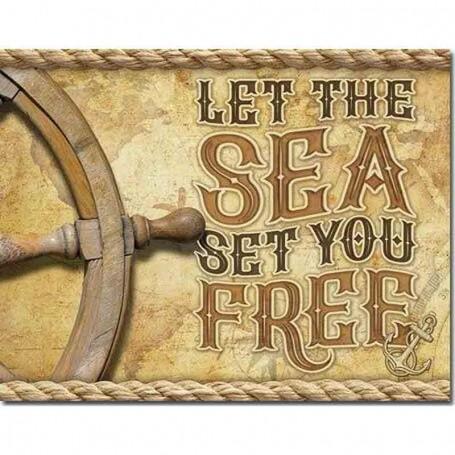 Plaque métal sea set you free