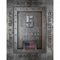 Plaque métal 5 reasons