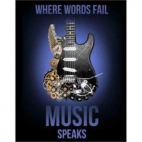 Plaque métal music speaks