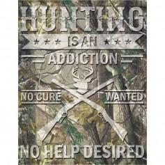 Plaque métal hunting cure