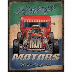 Plaque métal vintage motors