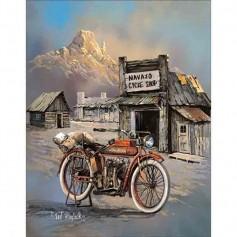 Plaque métal navajo cycle shop
