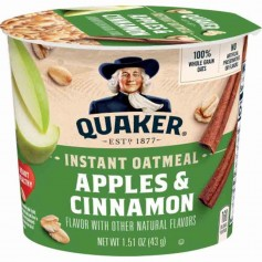 Quaker instant oatmeal apples and cinnamon