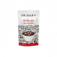 Friends hot chocolate with marshmallow pouch