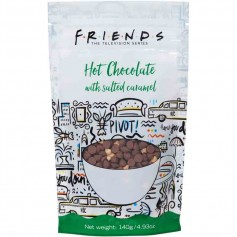 Friends hot chocolate with salted caramel pouch