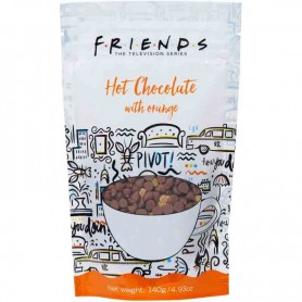 Friends hot chocolate with orange pouch