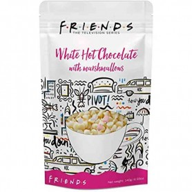 Friends white hot chocolate with marshmallows pouch