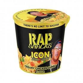 Rap snacks icon ramen noodles creamy chicken