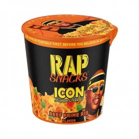 Rap snacks icon ramen noodles beff prime rib