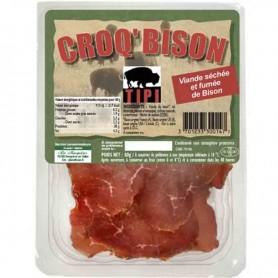 Croq'bison viande séchée et fumée de bison