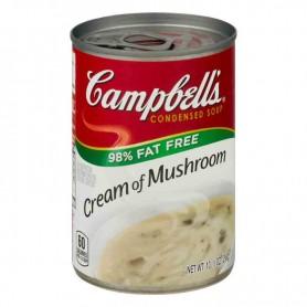 Campbells' cream of mushroom 98% fat free