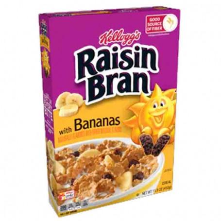 Kellogg's raisin bran with bananas