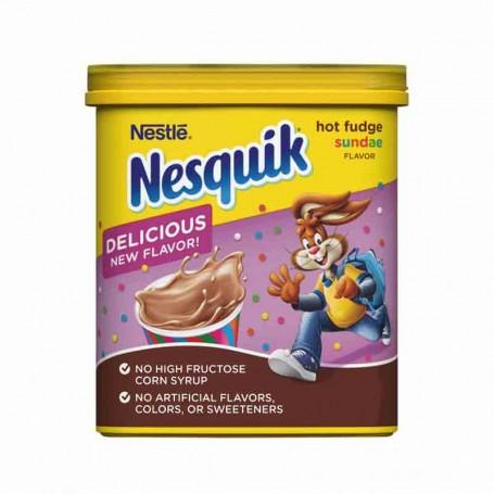 Nesquik hot fudge sundae
