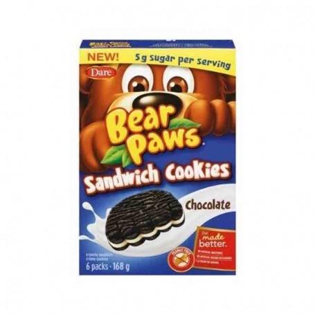 Dare bear paws sandwich cookies chocolate