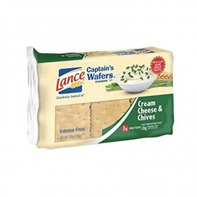 Lance captain's wafers cream cheese and chives