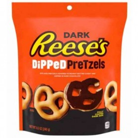 Reese's dark chocolate dipped pretzels 240g