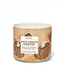 BBW bougie white pumpkin oakwood