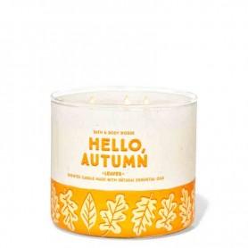 BBW bougie leaves hello autumn