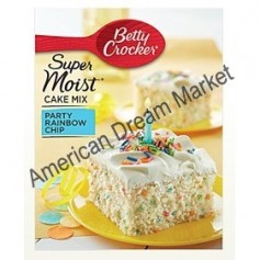 Betty Crocker super moist cake mix party rainbow chip